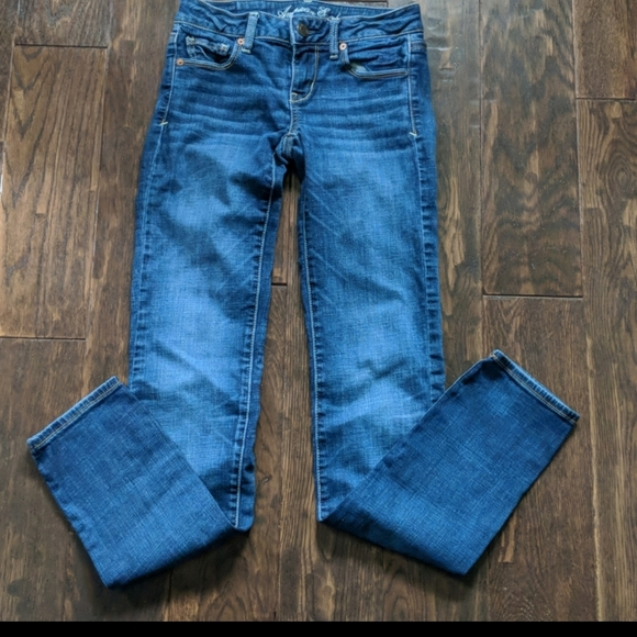 American Eagle Outfitters Stretch Skinny Jeans Size 0 Long